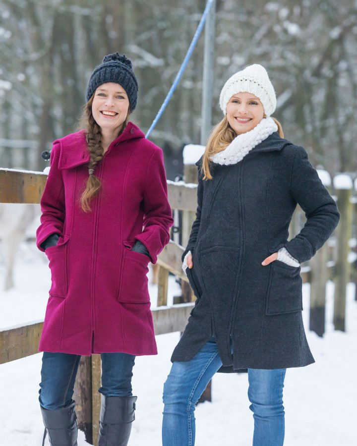 ddb984d28 The Mamalila Hooded Wool Coat Berry is available from Sling Spot.